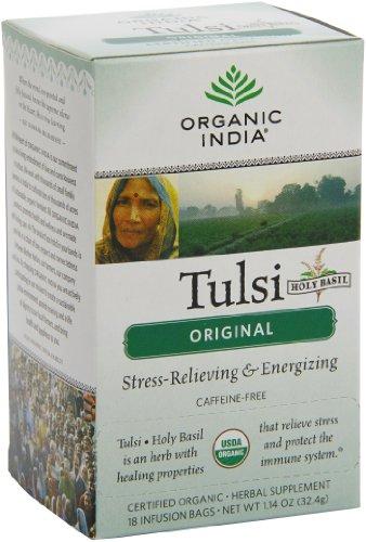 Organic India Tulsi, Original, 18-Count  Boxes  (Pack of 2)