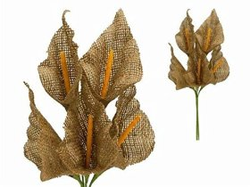 25 Burlap Large Calla Lily Flowers – Natural