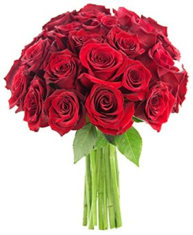 Bouquet of Long Stemmed Red Roses (Two Dozen) – The KaBloom Collection Flowers Without Vase