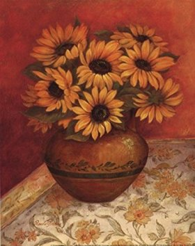 Tuscan Sunflowers I – mini Poster by Pamela Gladding (8.00 x 10.00)