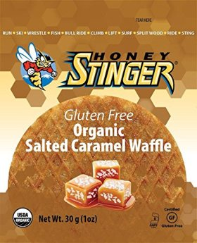 Honey Stinger Gluten Free Waffles, Salted Caramel, 1 Ounce (Pack of 16)