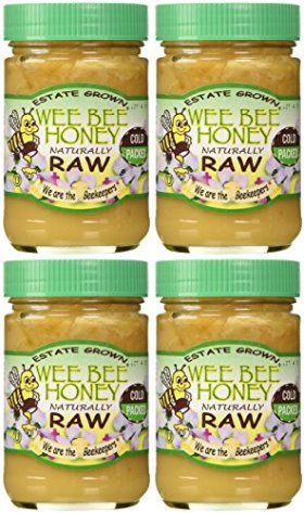 Wee Bee Raw Honey – Natural – 1lbs each (pack of 4)