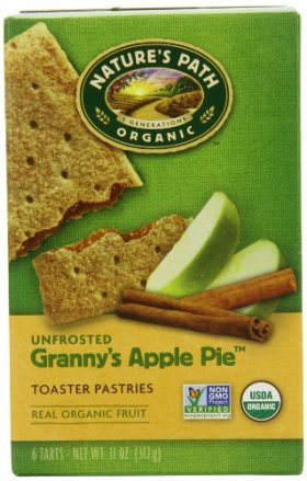 Nature's Path Unfrosted Granny's Apple Pie Toaster Patries, 6-Count Boxes (Pack of 12)