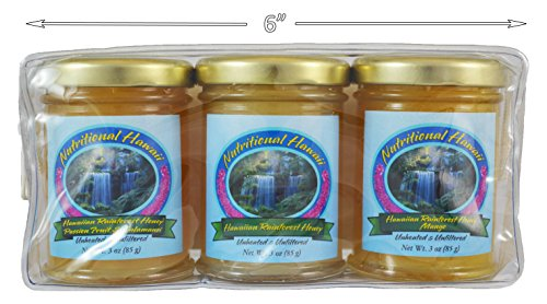 Tropical Fruit Infused Hawaiian Rainforest Honey Gift Pack (Raw Natural Honey)