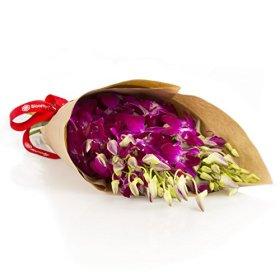 Purple Dendrobium Orchid Bouquet (10 Stems) – No Vase