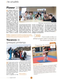 Article Flowers 2.0, Saint-Egrève le journal