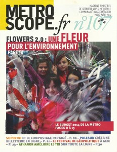 Flowers 2.0 en Couverture du magazine Metroscope