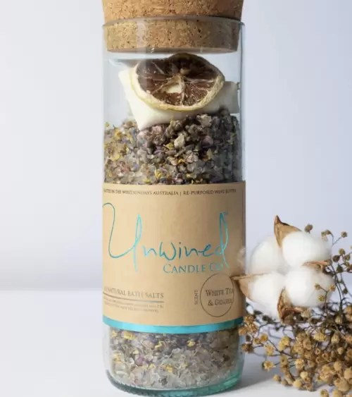 Unwined Bath Salts White Tea & Ginger