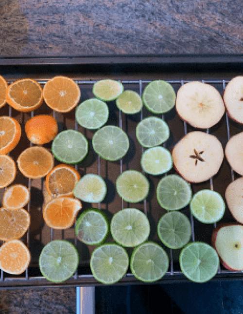 fruit on drying rack