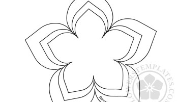 flower cut out template flowers templates