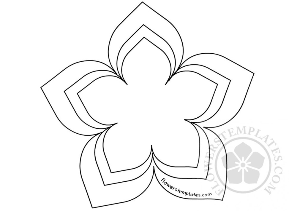 Flower shape cut out template flowers templates flower shape cut out template pronofoot35fo Images