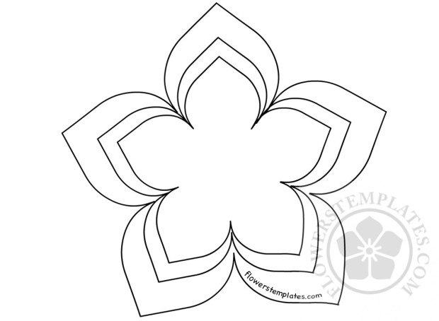 flower shape cut out template flowers templates