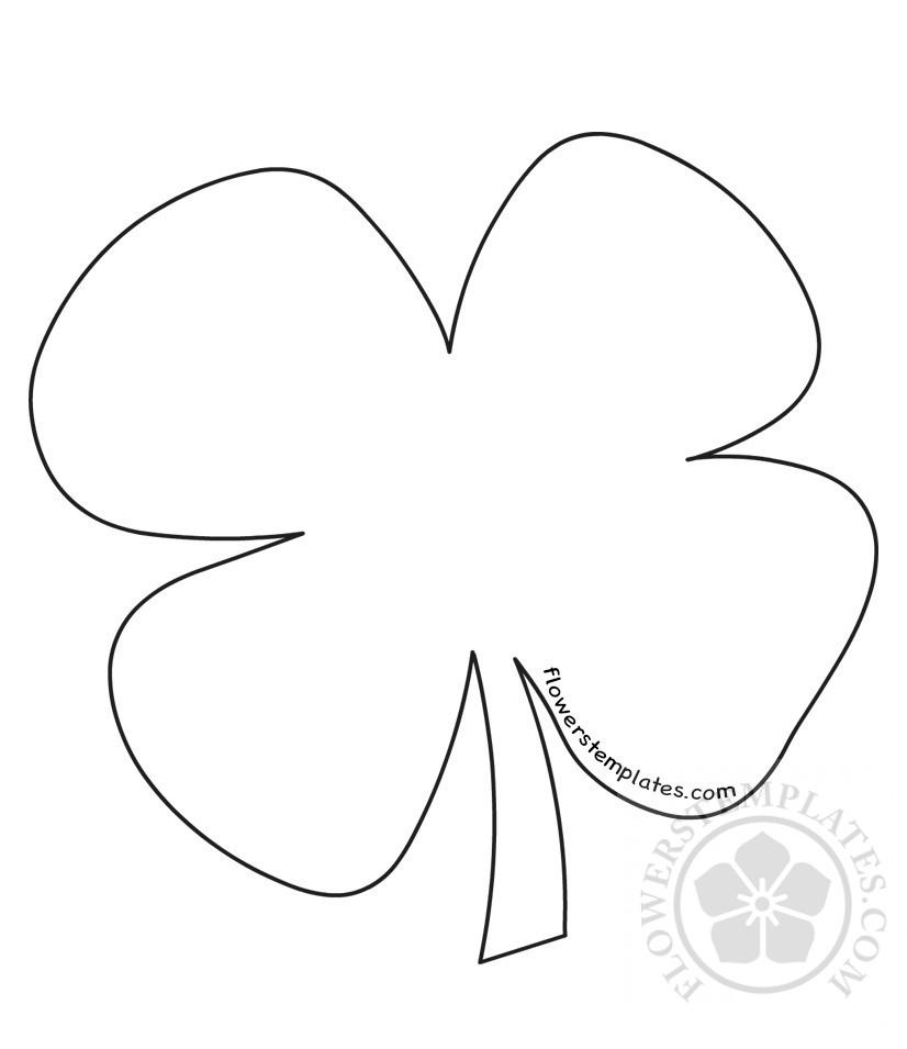 photo about Printable Four Leaf Clover named Saint Patricks Working day printable 4 Leaf Clover practice