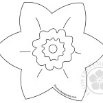 Daffodil Petal Template For Kids