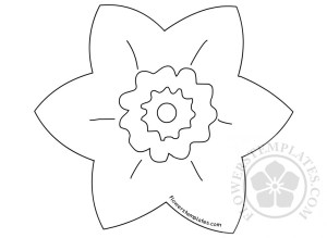 daffodil petal template for kids flowers templates