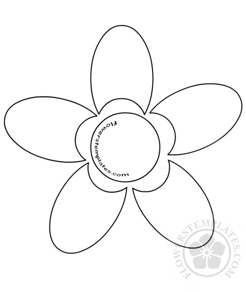Daisy archives flowers templates for Daisy cut out template
