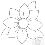 Large daisy with leaves template