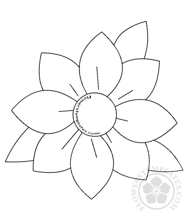 large daisy with leaves template flowers templates
