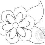 Flower Leaf Template
