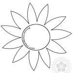 Flower Pattern Template Clipart