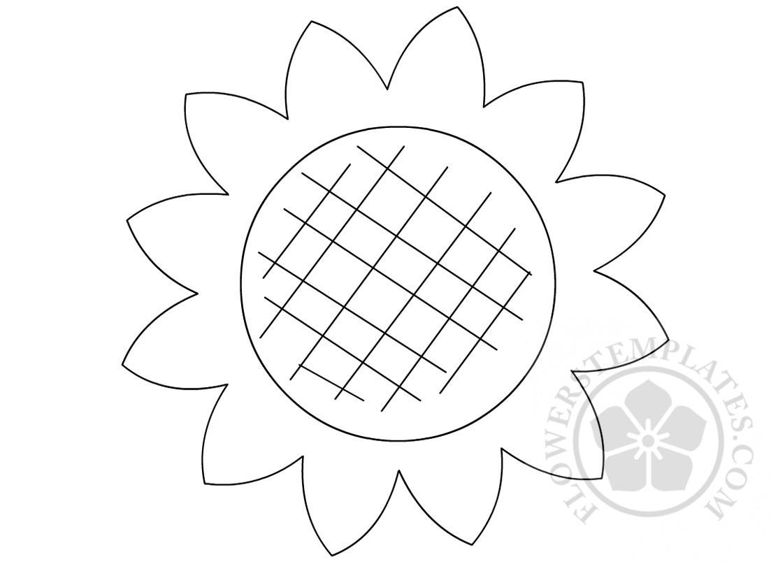 large sunflower template