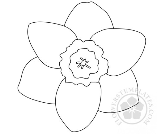 template of a daffodil - agosto 2017 flowers templates