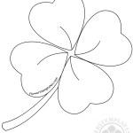 Printable large four leaf clover pattern