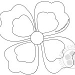 Four Petal Flower coloring page