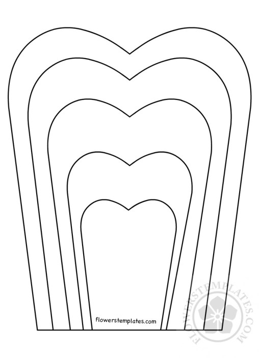 Flower petal flowers templates for Free printable paper flower templates