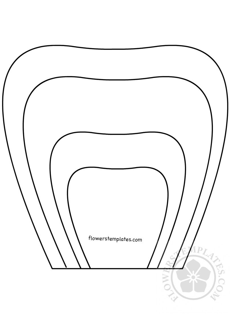 It is a graphic of Agile Printable Flower Petal Template Pattern