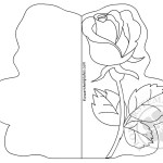 Single Rose Card coloring page