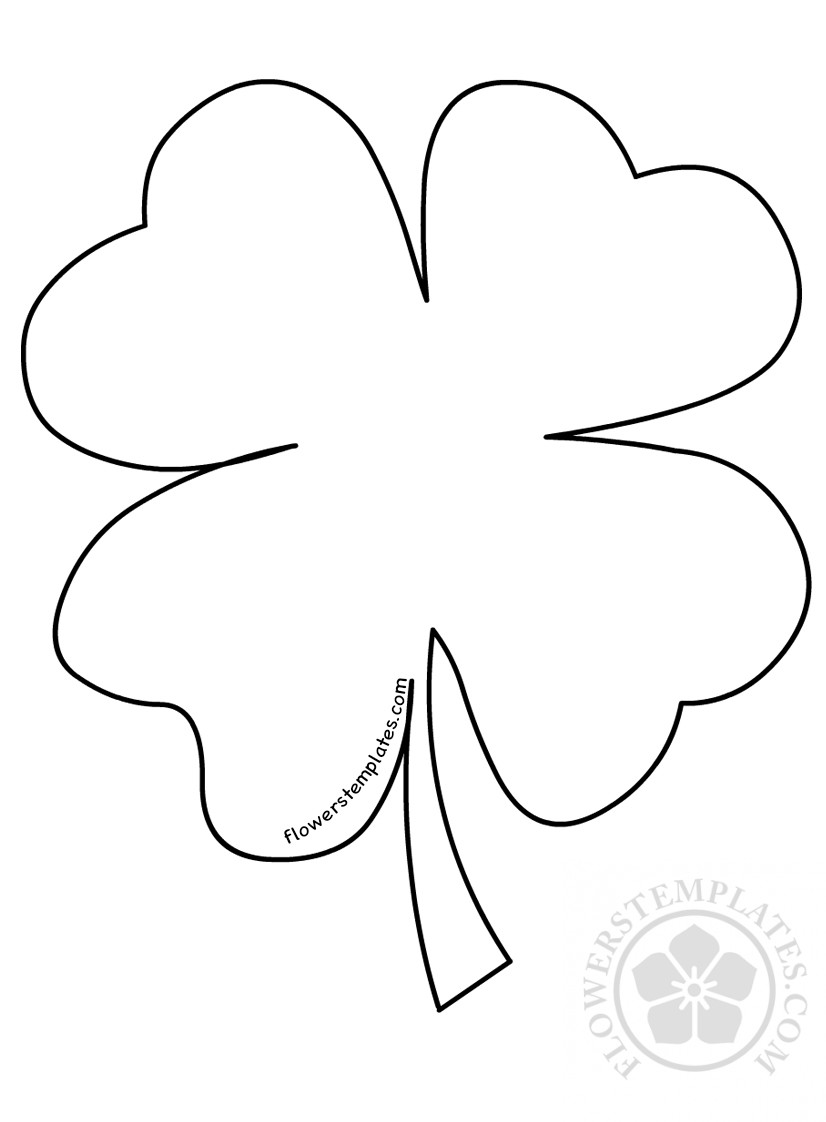 st patricks day four leaf clover template flowers templates