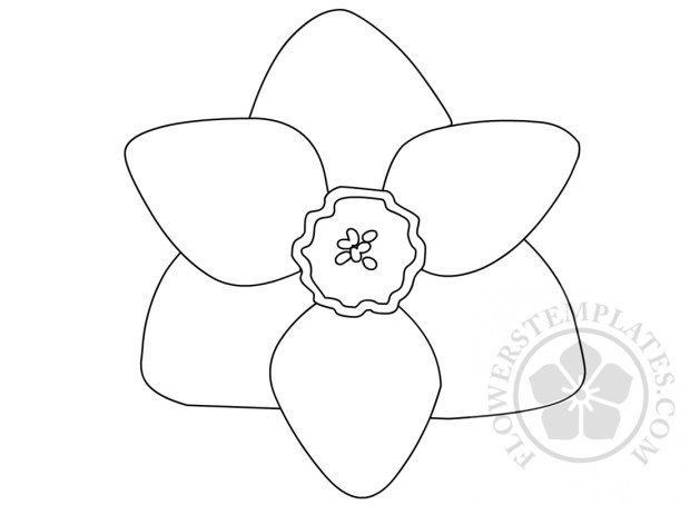 Printable daffodil flower shape flowers templates for Template of a daffodil