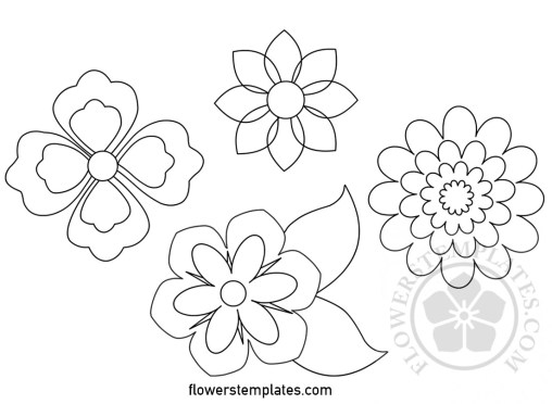 Flowers archives flowers templates flower templates free printable pronofoot35fo Gallery