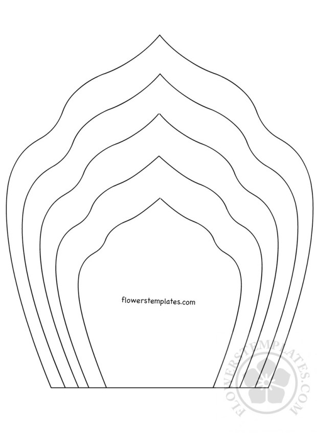 paper flower petal template flowers templates