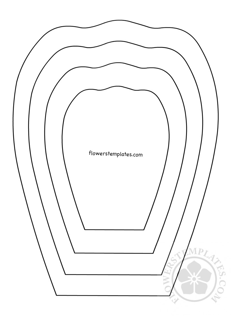 image regarding Printable Flower Petal Template Pattern named flower petal template -