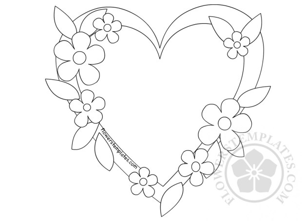 Frame And Flowers For Mothers Day Coloring Page