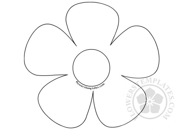 Simple 5 Petal Flower
