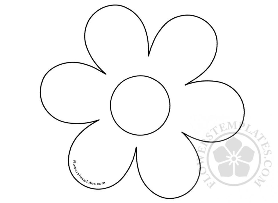 flower six petal flowers templates