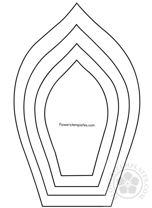 Flower petal flowers templates part 4 for Big flower paper template