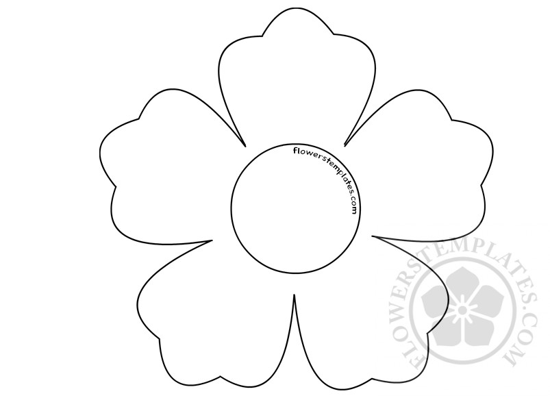 This is an image of Printable Flower Templates inside pdf
