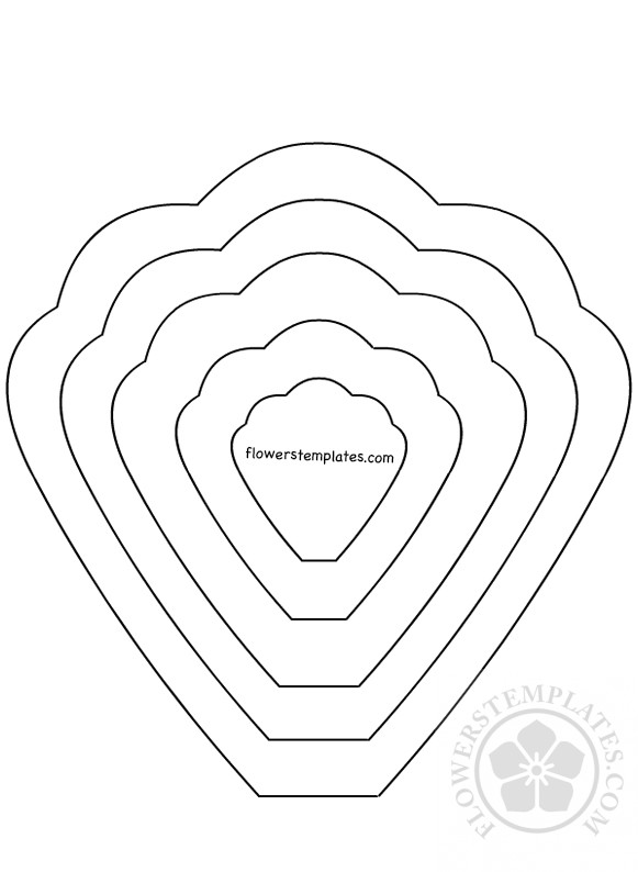 Flower Template Printable | Printable Flower Petal Template Flowers Templates