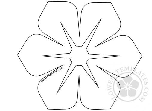 Geometric flowers flowers templates vector flower shape spring flower template mightylinksfo