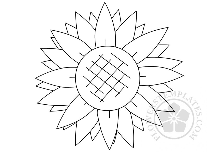 photograph relating to Sunflower Template Printable named Printable Sunflower Condition Template Bouquets Templates