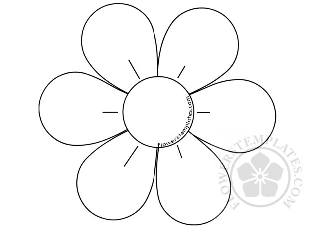 flower with six petals template flowers templates
