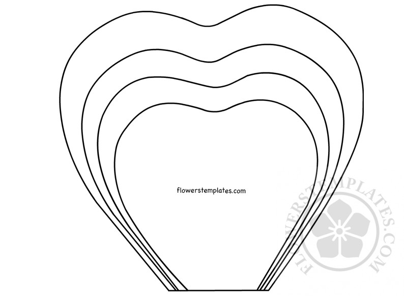 Paper rose printable template flowers templates for Rose petal templates free