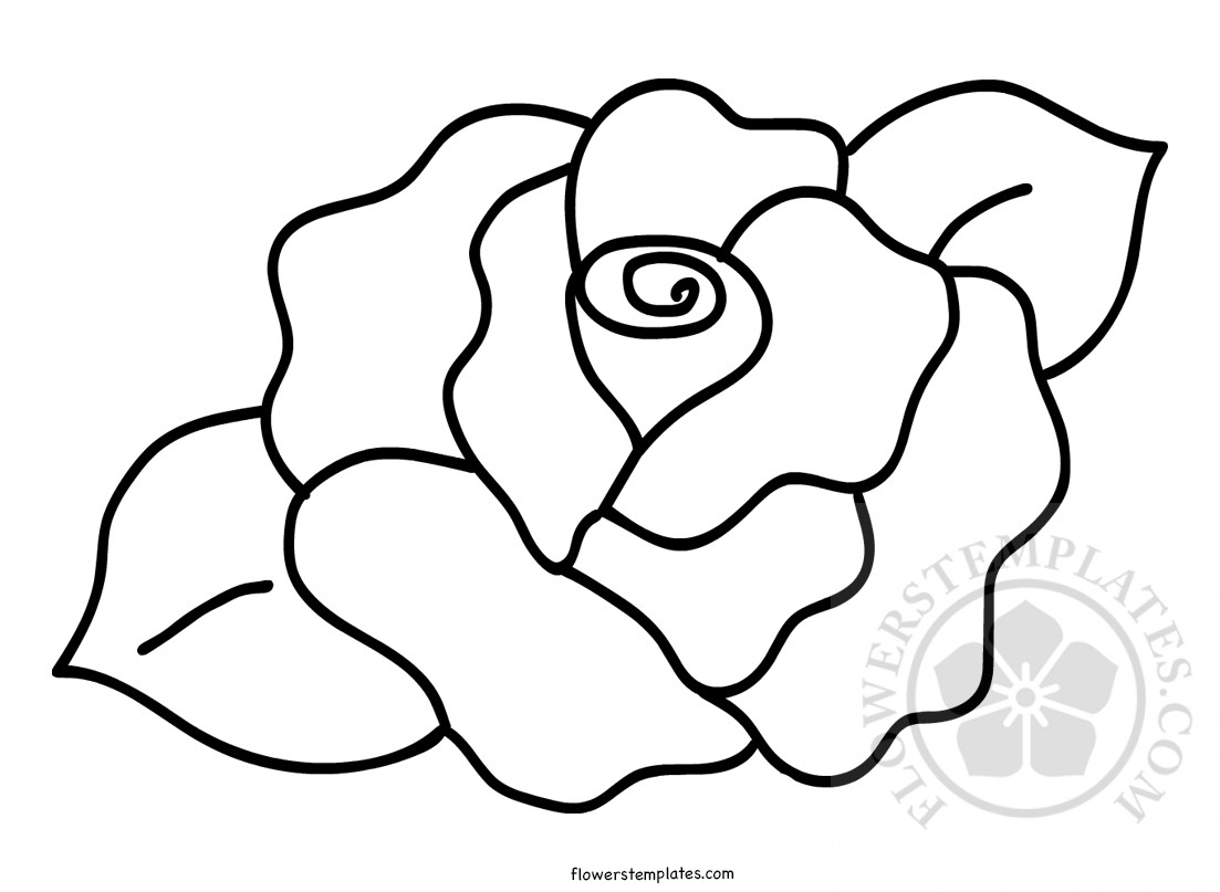 photo regarding Printable Rose named Printable Rose Condition Template Bouquets Templates