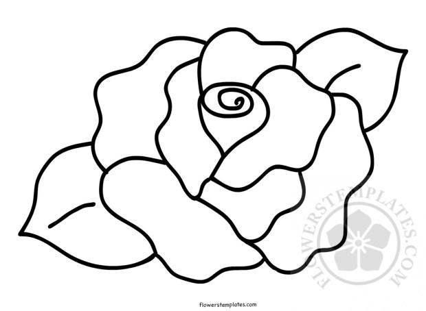 printable rose shape template flowers templates
