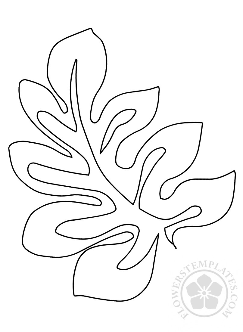 printable tropical leaf template
