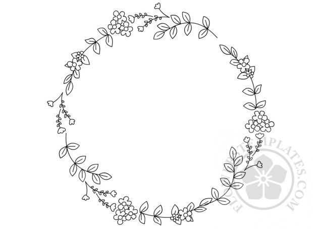 Floral Circular Embroidery Pattern Flowers Templates Simple Floral Embroidery Patterns